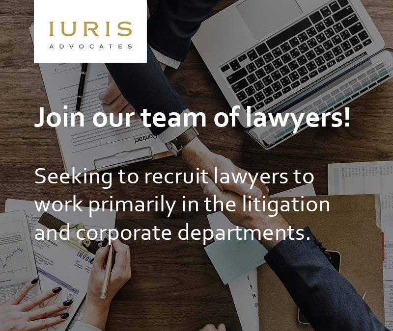 IURIS Advocates is recruiting
